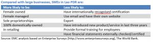 Lao PDR SME v large firms